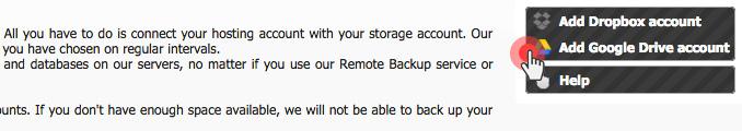 Database Backup to Google Drive