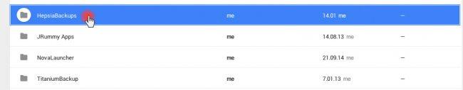 Google Drive Backup folder
