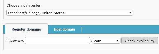 Choose the US Data Center at Hosting Signup